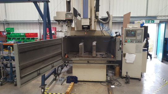 Our Tool Room Includes a Mitsubishi EX30 CNC Spark Eroder